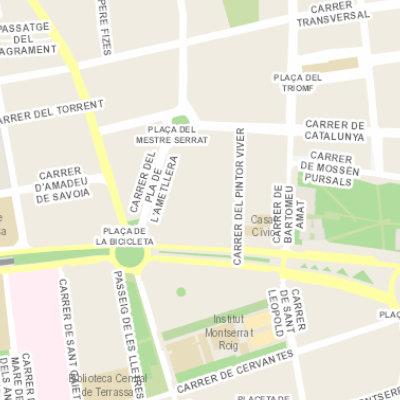 Mapa de situació de la biblioteca